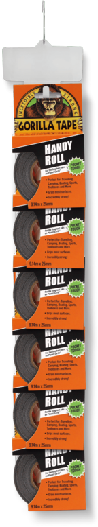 Gorilla 9m Tape Handy Roll - 12 Piece Clip Strip