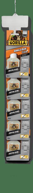 Gorilla Clear Glue 50ml - 5 Piece Clip Strip