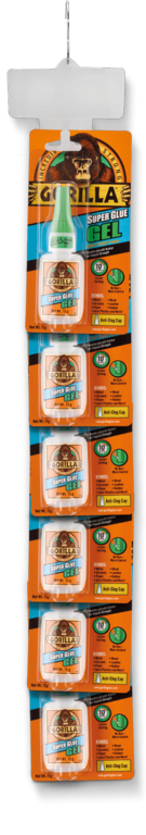 Gorilla Super Glue Gel 15g Gel - 6 Piece Clip Strip