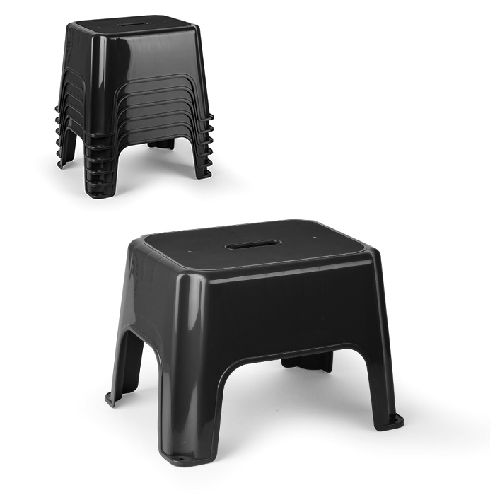 Plasticforte Eco Step Stool - Black 40 x 30 x 28cm
