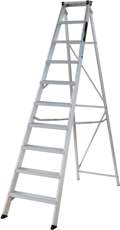 Werner Builders Stepladder - 10 Tread