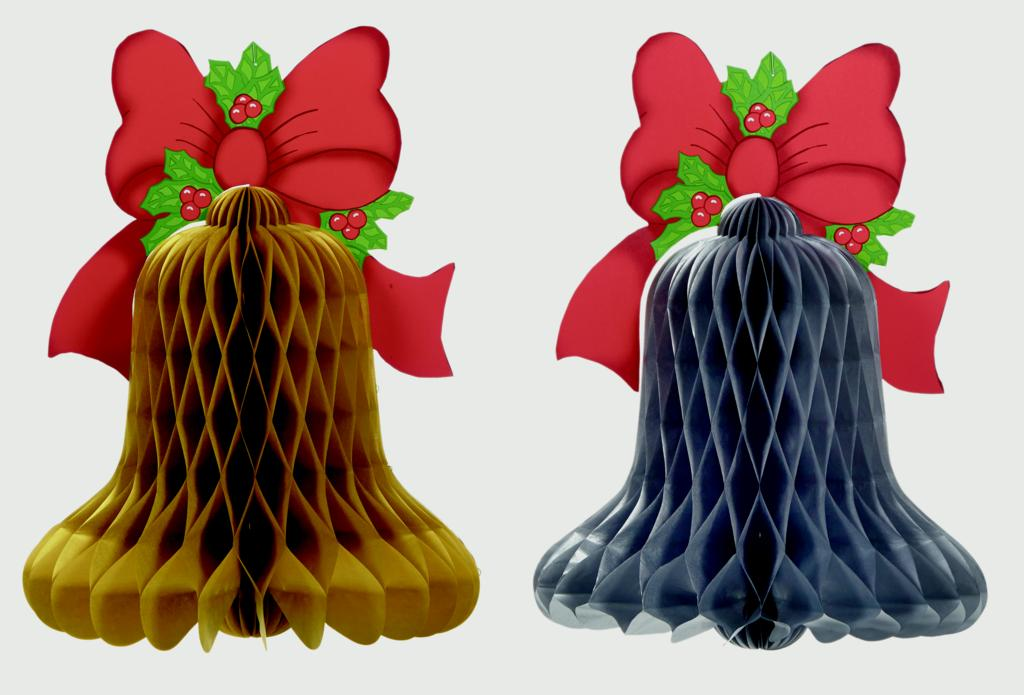Premier Honeycomb Bell With Bow - 40 x 30cm