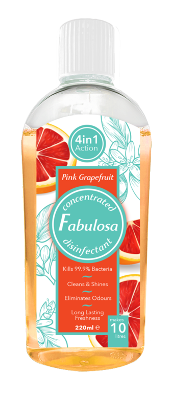Fabulosa Disinfectant 220ml - Pink Grapefruit