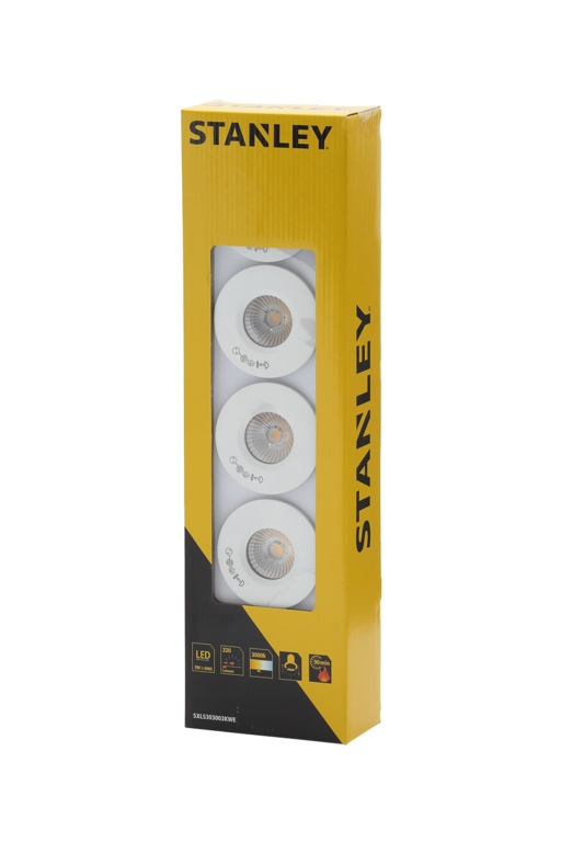 Stanley Slimline Recessed LED Fire Rated Downlighters - 3w Pack 5