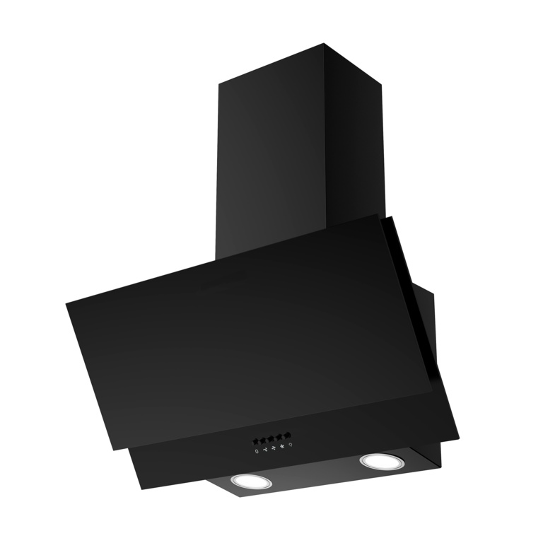 Kitchenplus Black Vertical Cooker Hood - 600mm