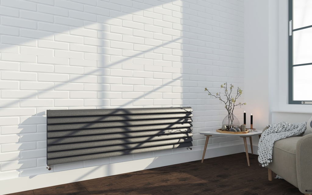 SP Anthracite Designer 8 Bar Radiator - 475mm x 1600mm