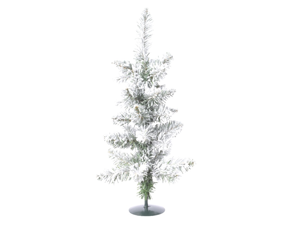 Kaemingk Snowy Pencil Pine Mini Tree - 60cm Green/White