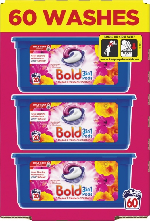 Bold Washing Capsules 60 Wash - Sparkling Bloom Poppy