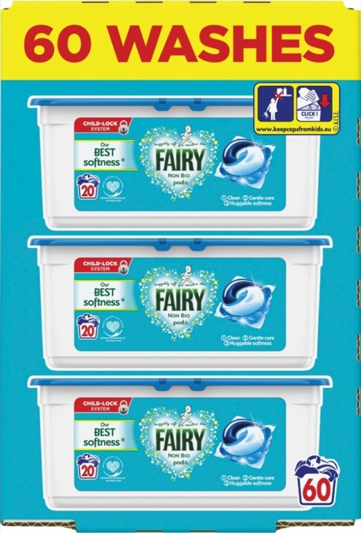 Fairy Non Bio Pods - 57 Wash