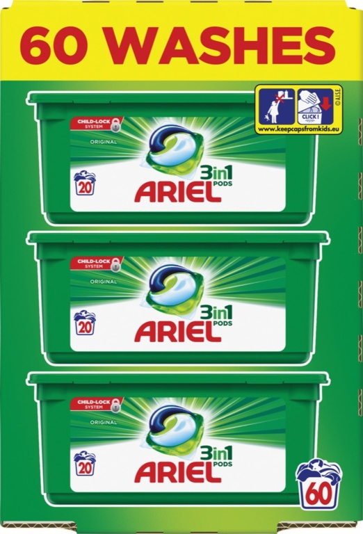 Ariel Original All In One Pods Capsules - 57 Wash