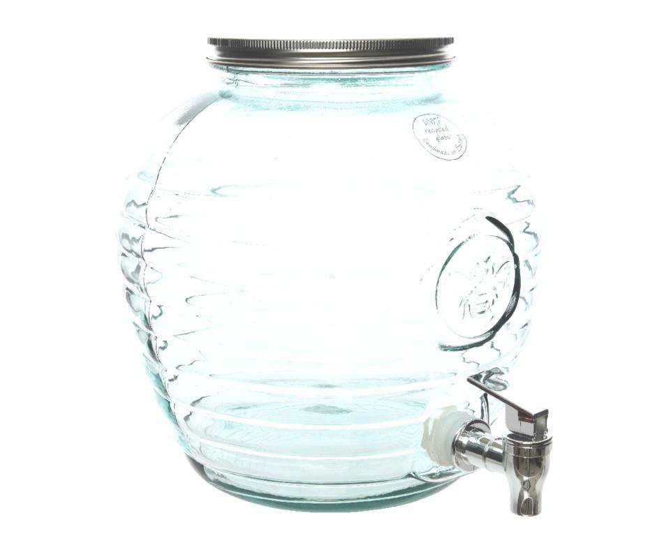 Kaemingk Recycle Beverage Bee Jar Clear - 24 x 25cm