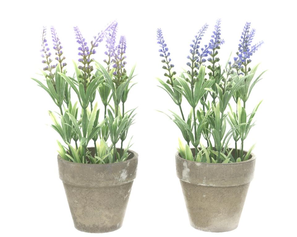 Kaemingk Plastic Lavender In Pot - 11 x 25cm