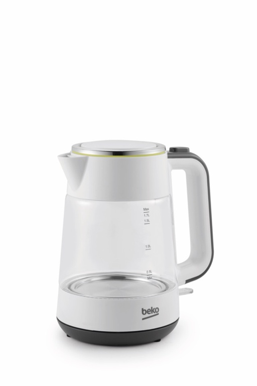 Beko New Line White Glass Kettle 2400w - 1.7L