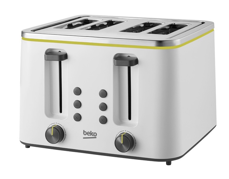 Beko 4 Slice Toaster - White