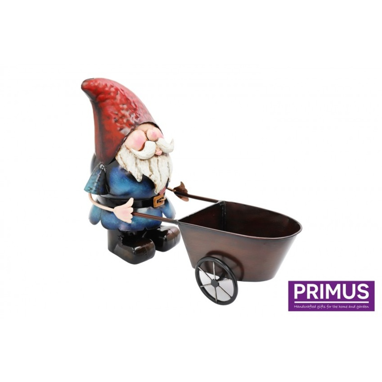 Primus Metal Gnome Wheelbarrow Planter