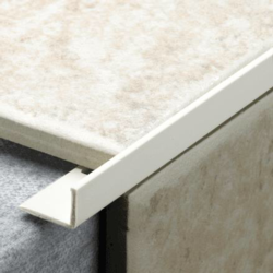 Tile Rite L Profile Trim 10mm x 2.44m - White Plastic