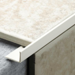 Tile Rite L Profile Trim 12mm x 2.44m - White Plastic