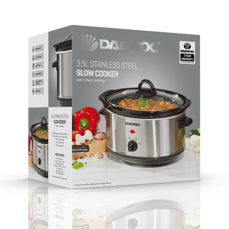 Daewoo Stainless Steel Slow Cooker - 3.5L