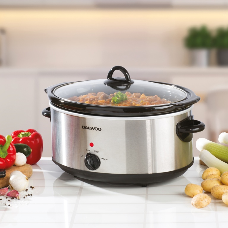 Daewoo Stainless Steel Slow Cooker - 6.5L
