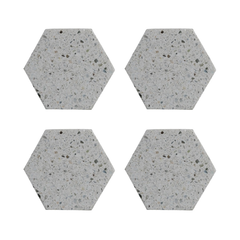 Typhoon Coasters Set 4 - Terrazzo Hexagonal