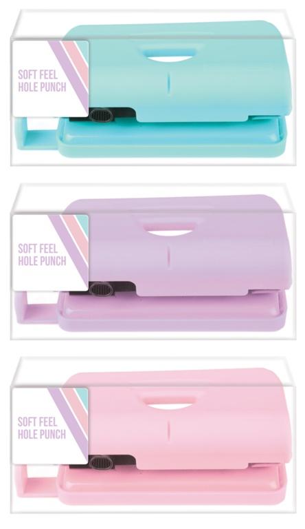 Ig Design Soft Feel Hole Punch - Pastel