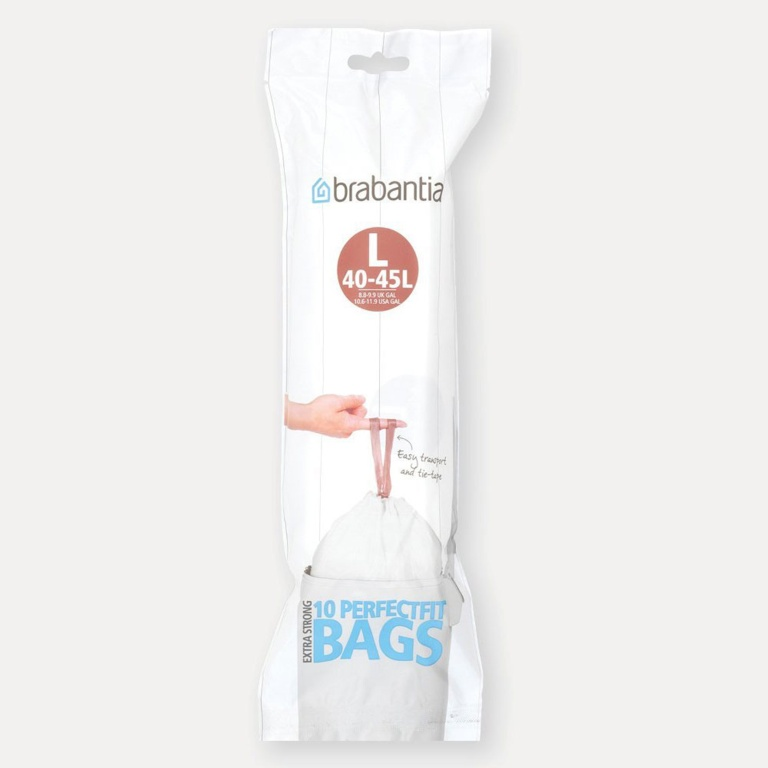 Brabantia PerfectFit Bags - 45L, Roll of 10