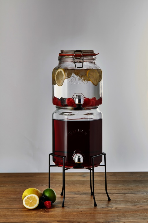 Kilner Stackable Jar Set With Taps  Stand