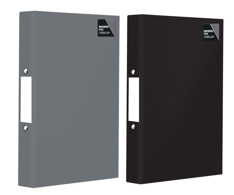 Ig Design Ringbinder - Black/Grey