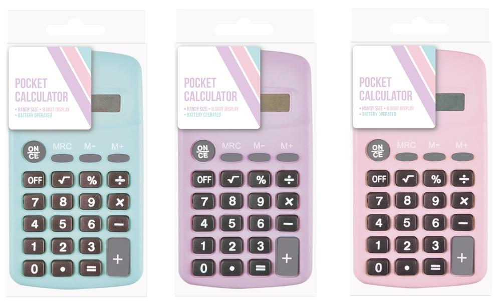 Ig Design Pocket Calculator - Pastel