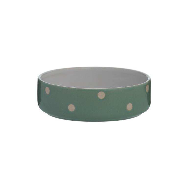 Mason Cole Polka Dot Pet Bowl - 13cm Sage