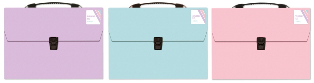 Ig Design A4 13 Pocket Expand File - Pastel