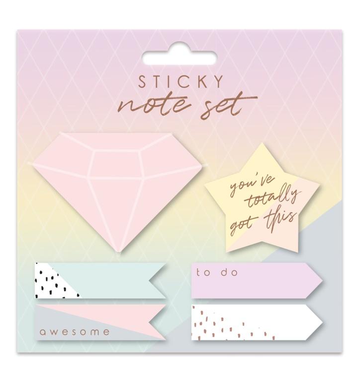 Ig Design Die Cut Sticky Notes - Rose Gold