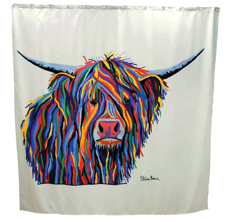 Croydex Shower Curtain - Angus McCoo
