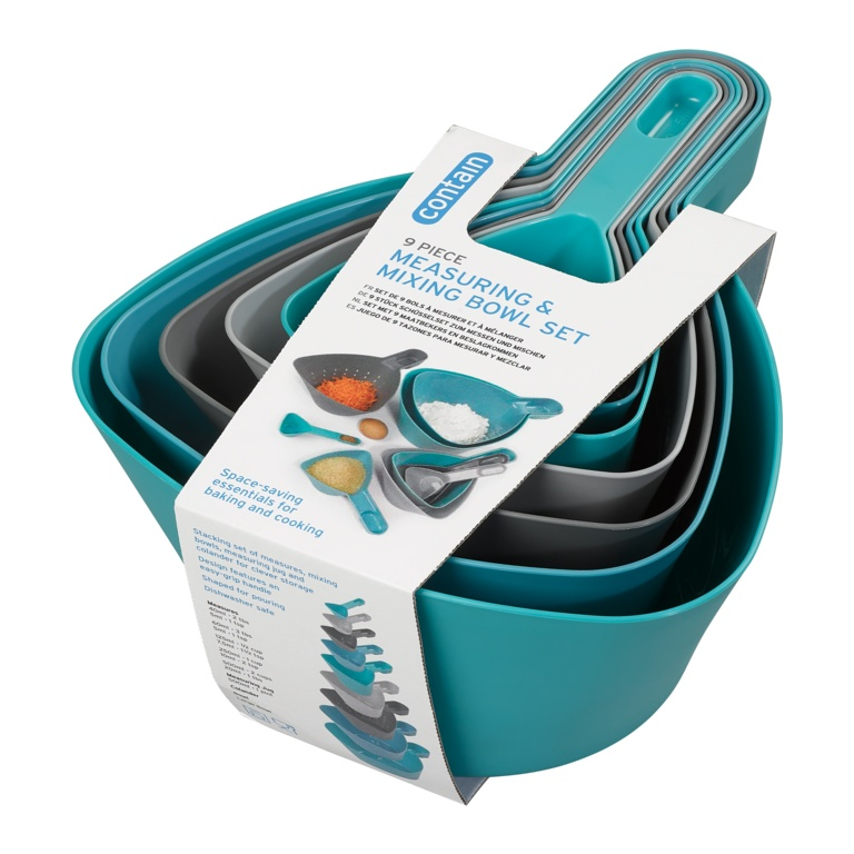 Chef Aid Measuring & Mixing Bowl Set - 9 Piece