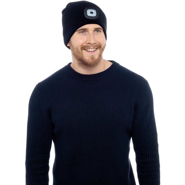 Storm Ridge Adult LED Beanie Hat - Black