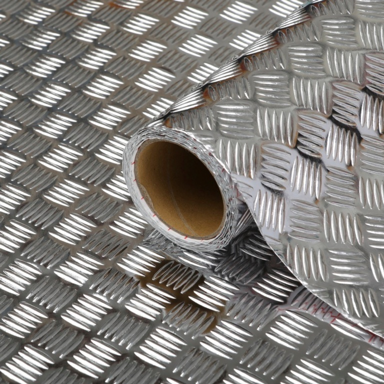 d-c-fix® Self Adhesive Film Chequer Plate - 45cm x 10m