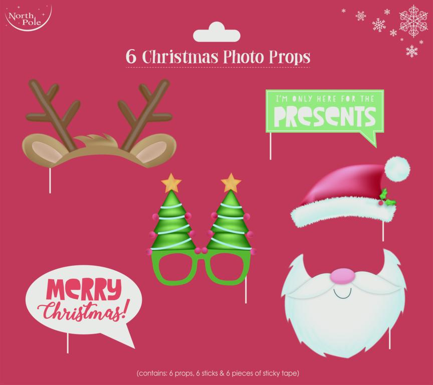 Eurowrap Christmas Photo Props - Pack 6