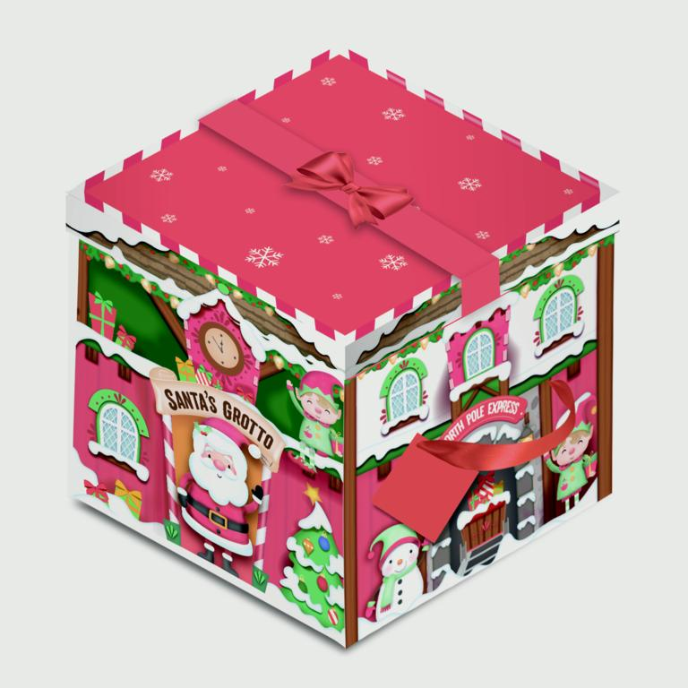 Eurowrap Square Flat Pack Box - Grotto