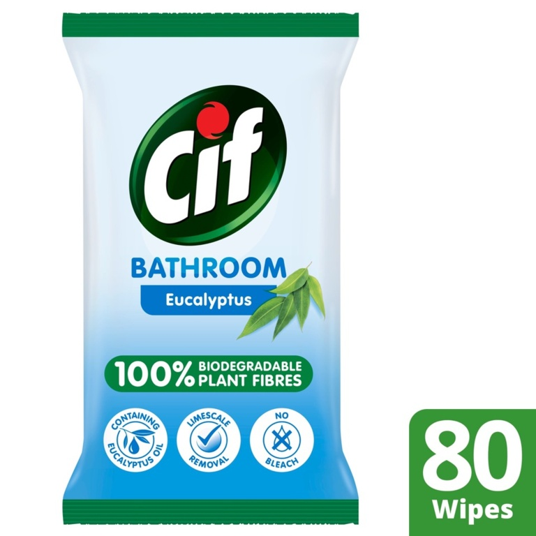 Cif Biodegradable Kitchen Wipes - Eucalyptus