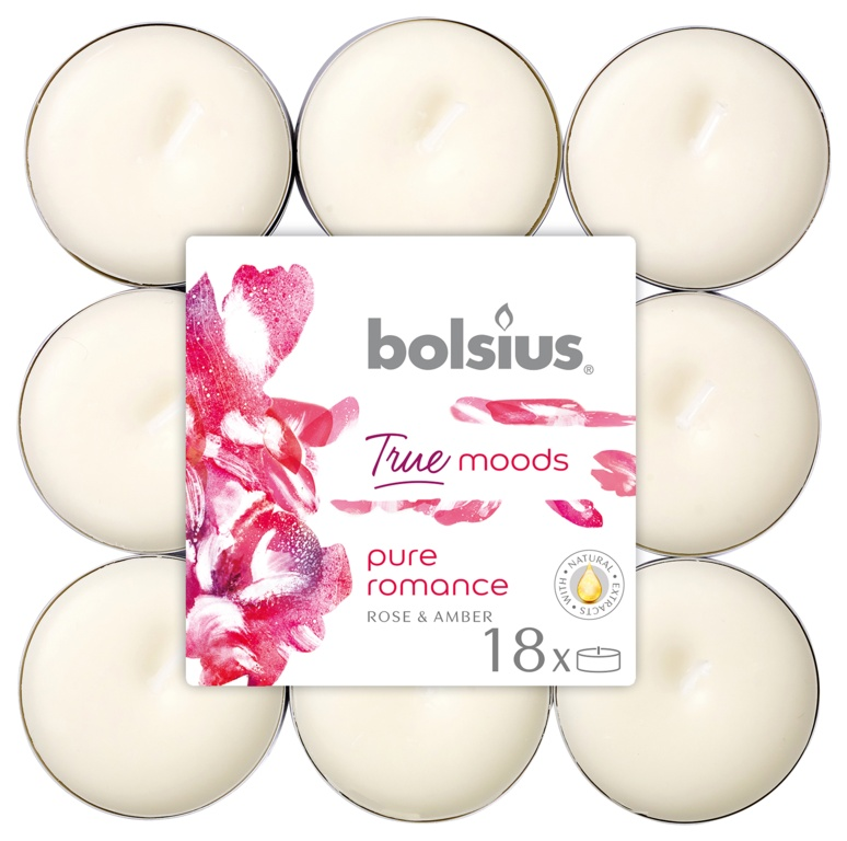 Bolsius 4 Hour Tealights - Pure Romance Pack 18