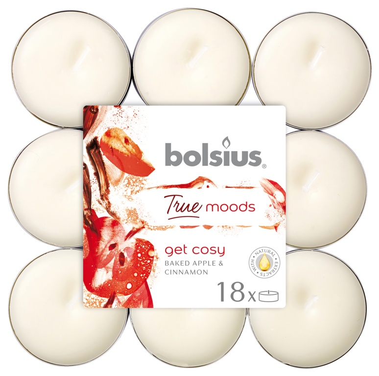 Bolsius 4 Hour Tealights - Get Cosy Pack 18