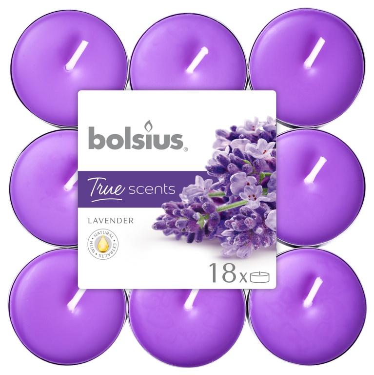 Bolsius 4 Hour Tealights - Lavender Pack 18