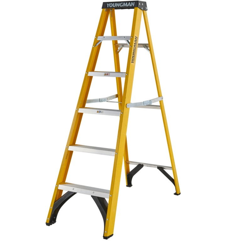 Youngman Fibreglass Ladder - 6 Tread
