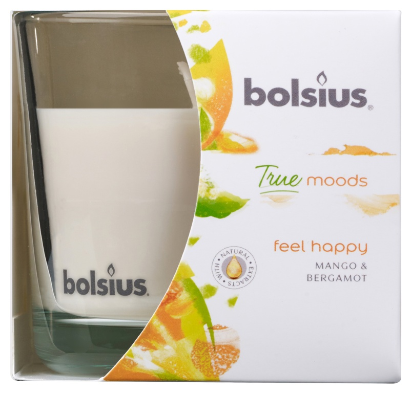 Bolsius Fragranced Candle In A Glass - Feel Happy