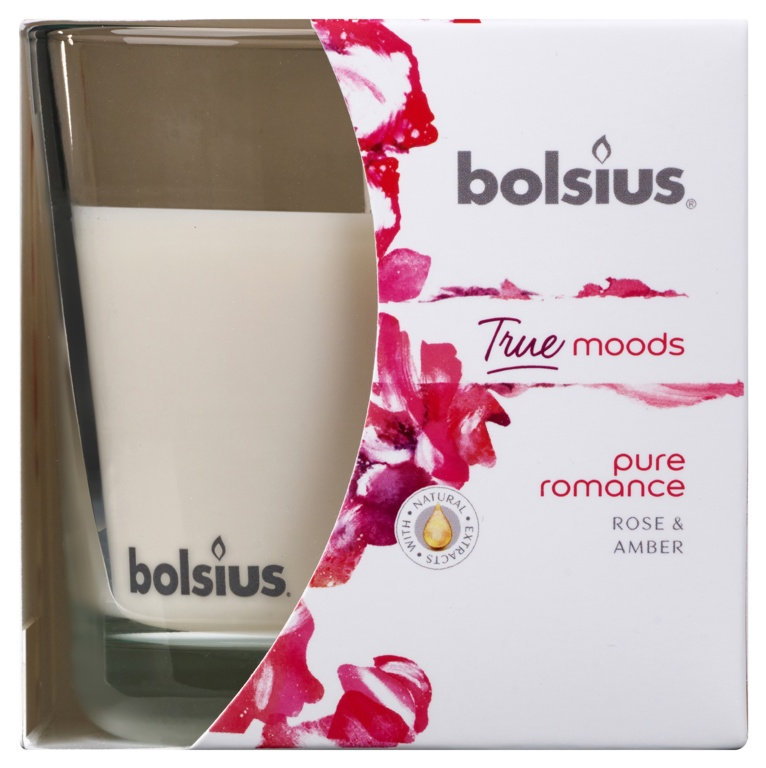 Bolsius Fragranced Candle In A Glass - Pure Romance