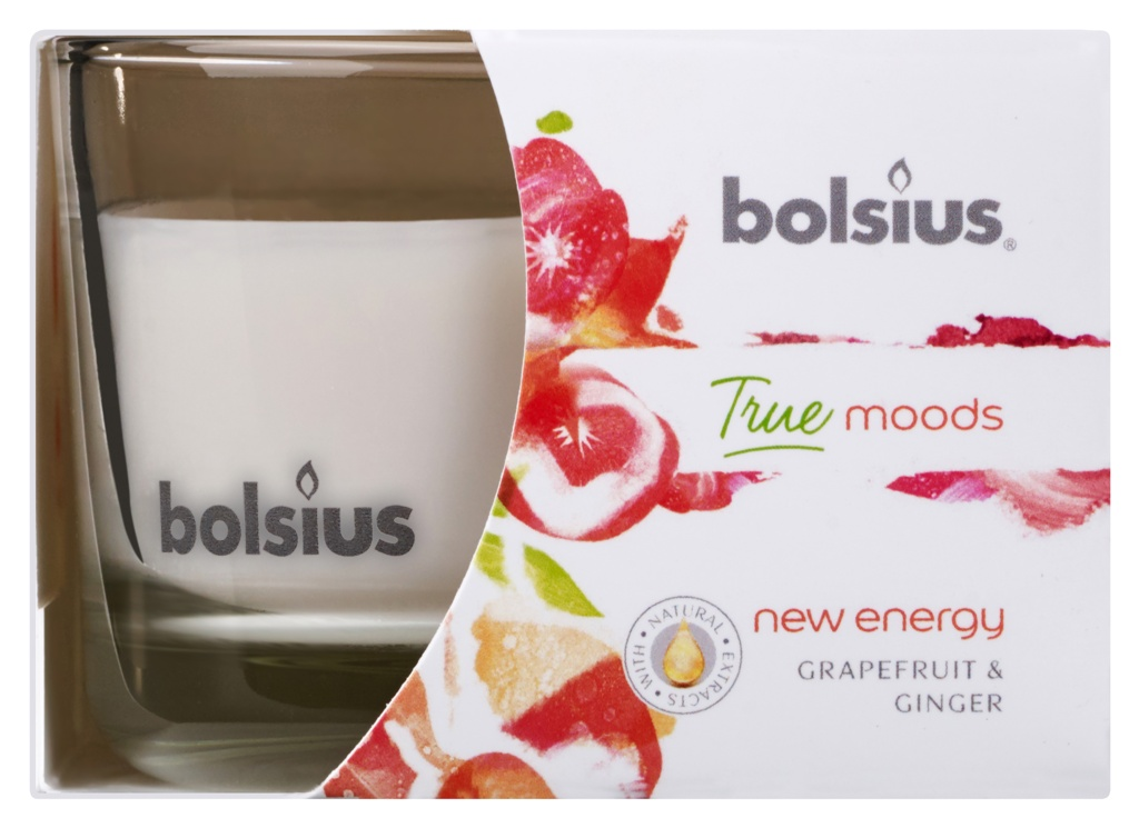 Bolsius Fragranced Candle In A Glass - New Energy