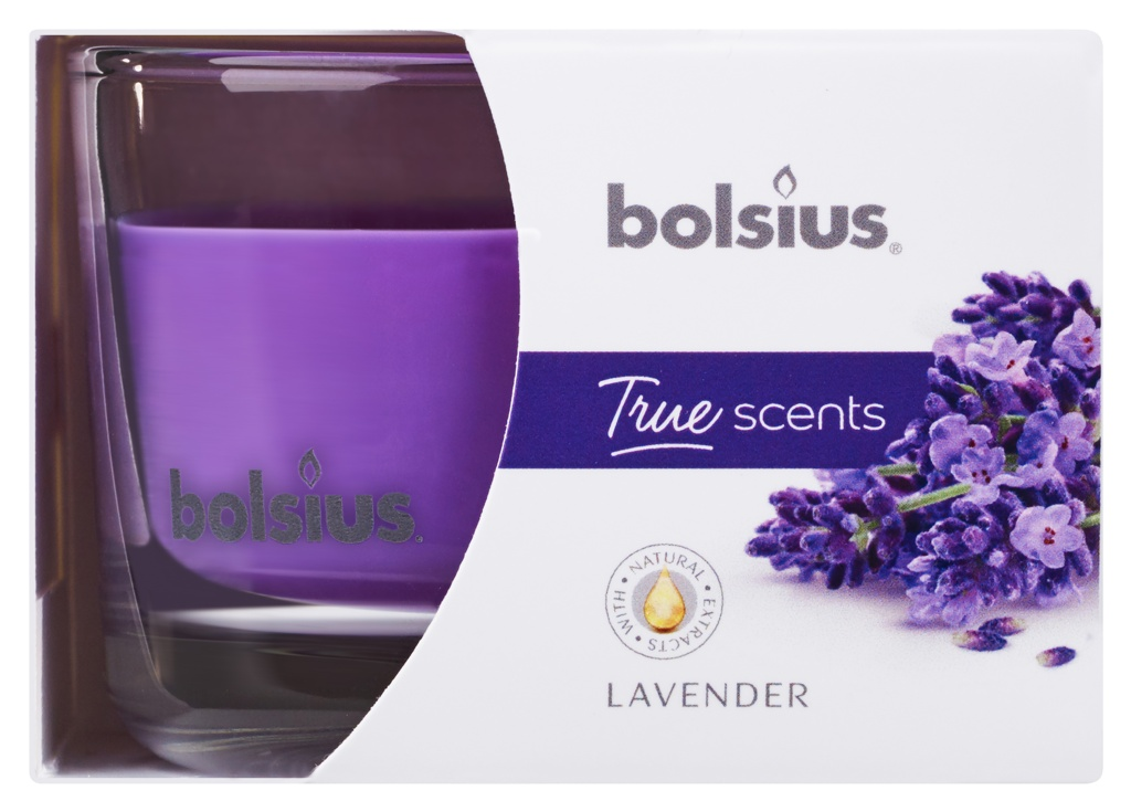 Bolsius Fragranced Candle In A Glass - Lavender 63/90