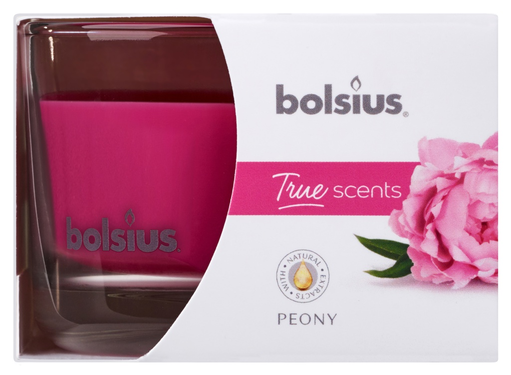 Bolsius Fragranced Candle In A Glass - Peony