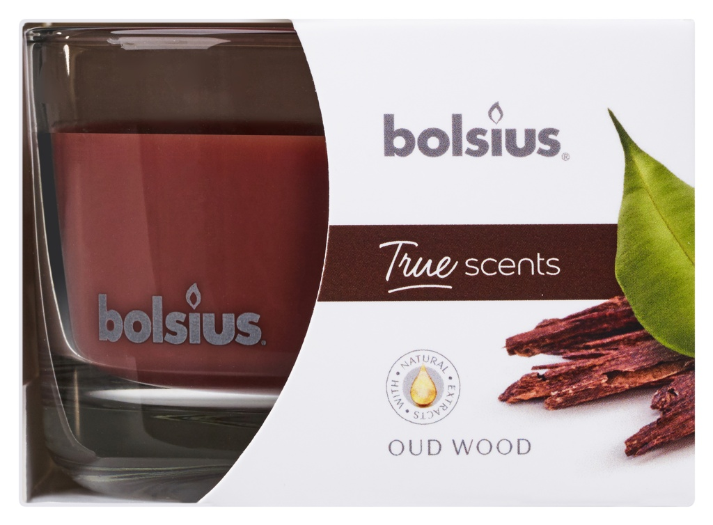 Bolsius Fragranced Candle In A Glass - Oud Wood
