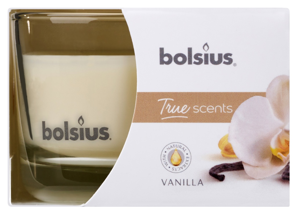 Bolsius Fragranced Candle In A Glass - Vanilla